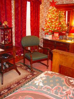 Plum Room Corner in Christmas Decor