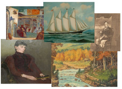 Collage of Selected Art at the Manor