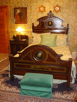 Handpainted Victorian Bed, Sage Room