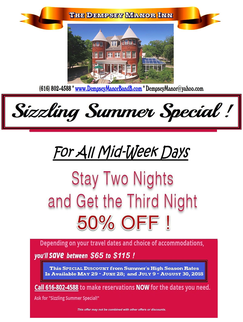 SIZZLING SUMMER MID-WEEK SPECIAL 8.5x11