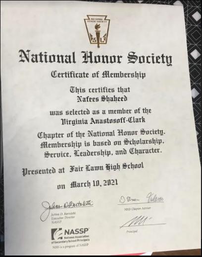 NHS Certificate