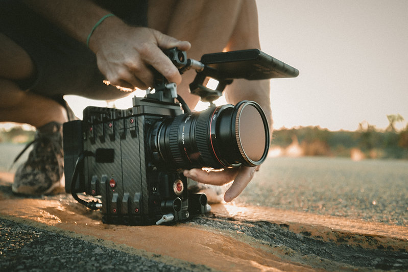 Camera filming for film, tv or ad shoot