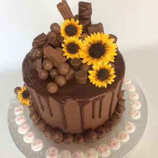 Chocolate cake and sunflowers.jpg