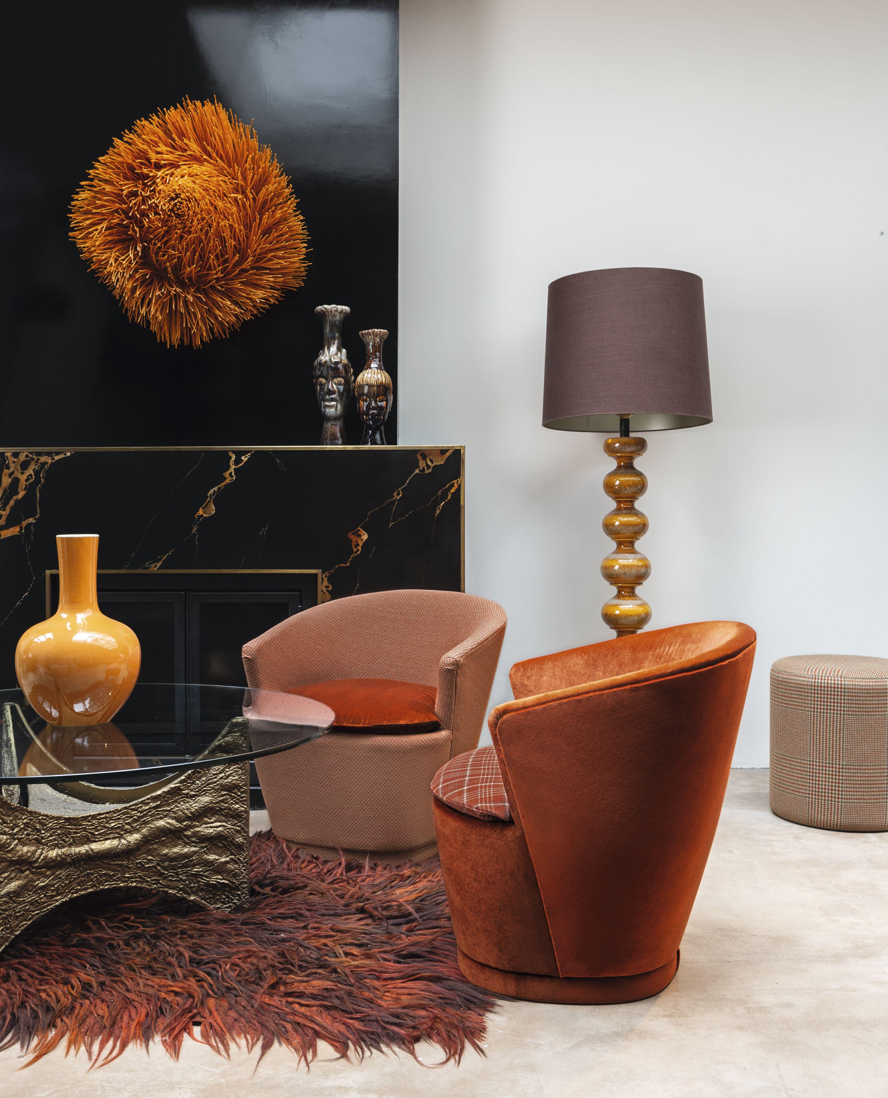 Armchair mit Chivasso Fabrics