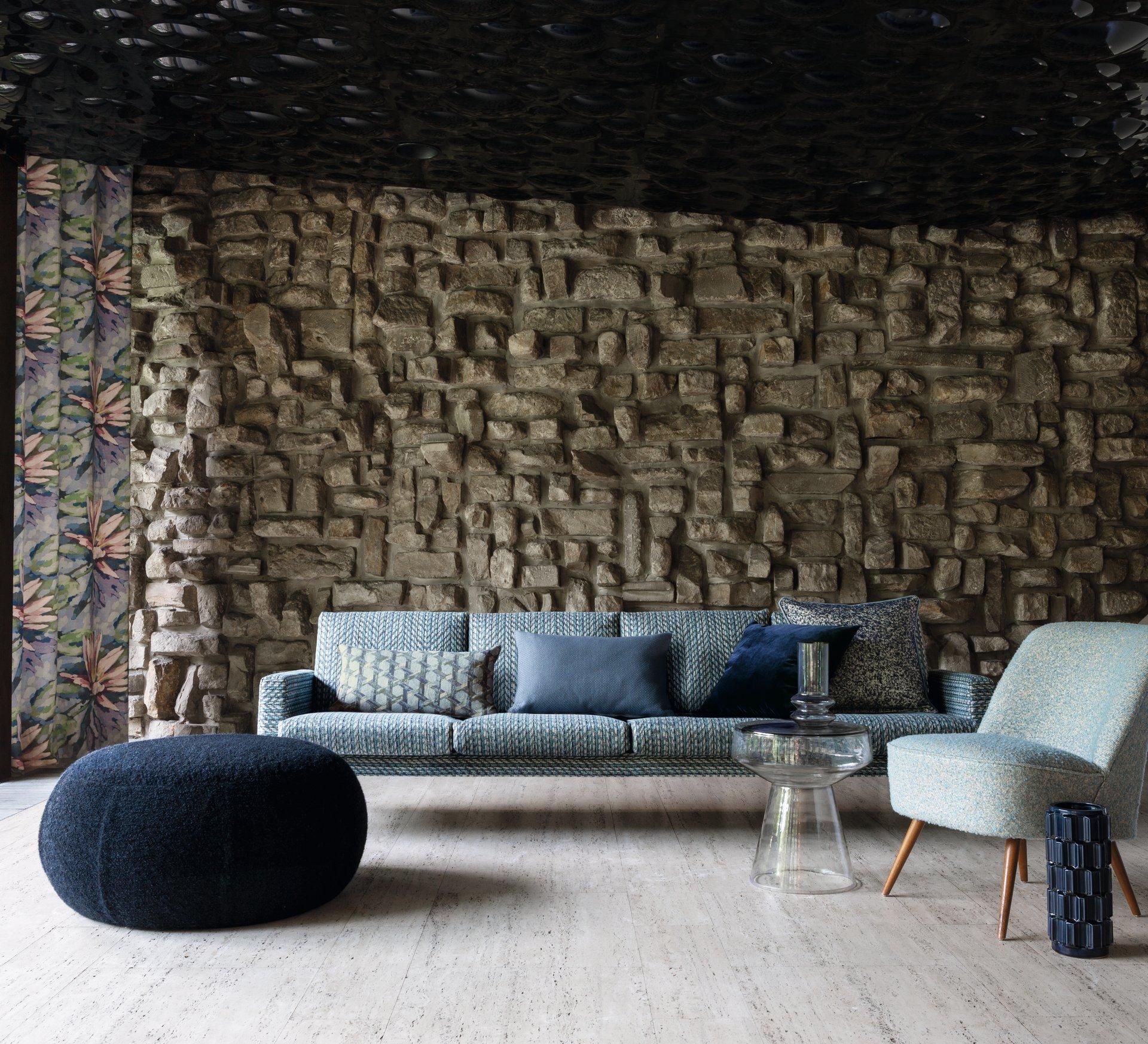 Sofa mit Carlucci Fabrics
