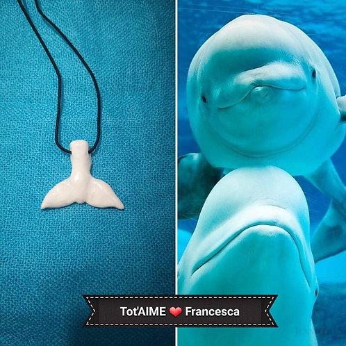 Collier Tot'Aime Baleine blanche