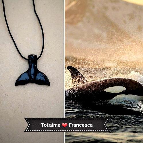 Collier Tot'Aime Baleine noire
