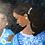 Thumbnail: Esmeralda and the Blue Bridemaids' Dresses