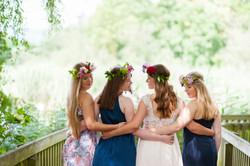 Mädchen, Blumen, Kleider