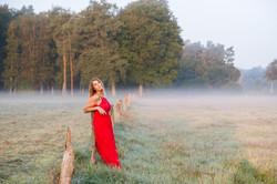 Nebel, Mädchen, Morgendämmerung