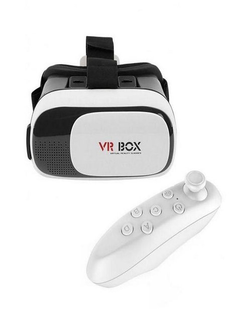 VR Box Virtual Reality 3D Glasses with Remote Control Gamepad