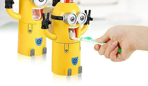 Minion Tooth Paste Dispenser with Brush Holder