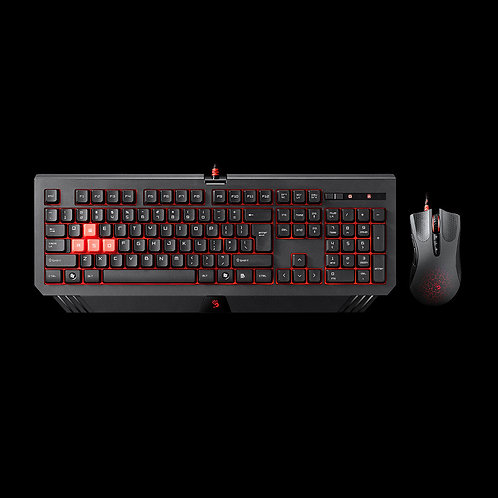 BLOODY BLAZING GAMING DESKTOP WIRED KEYBOARD+MOUSE SETS B1500