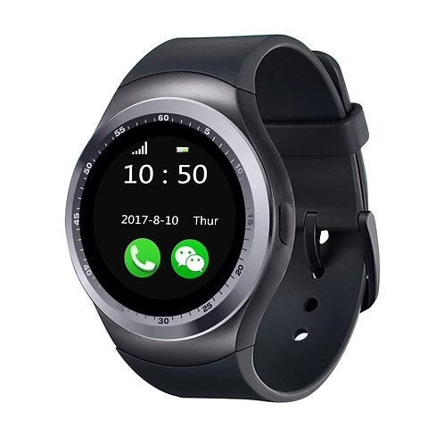 Y-1 Smart Watch Rubber Band For Android - Black