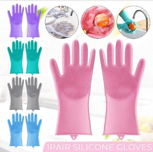 Magic Silicone Dish Washing Gloves