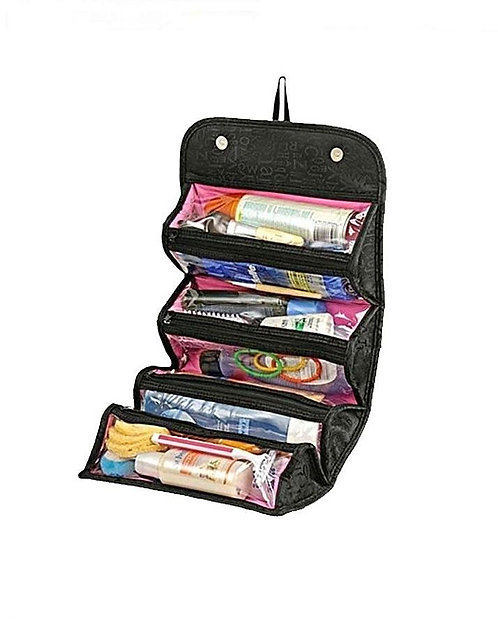 Cosmetic Polyester Bag - Black