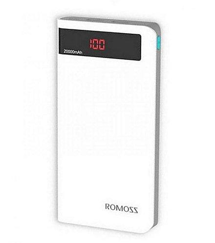 Romoss Sense 6P - Power Bank With Led Indicator 20,000Mah - White