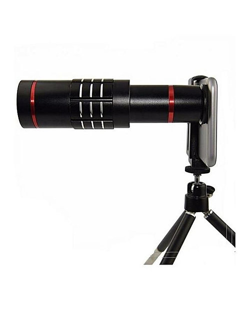 Universal 18X Zoom Phone Telephoto Camera Lens With Mini Tripod For Iphone And A