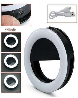 36 Leds Rechargeable Selfie Ring Light For Smart Phones - Black