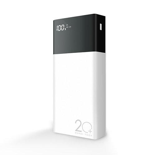 Morui ML20 20000mAh Lithium Polymer Power Bank with Digital Display – White & Bl