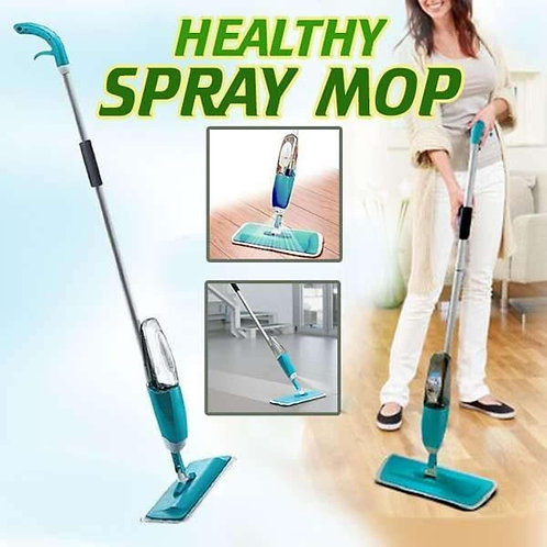 Healthy Shower Mop With Spray - Blue