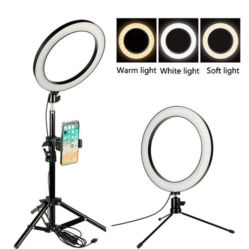 Ring Light Selfie 26cm/10inch for Professional Live Streaming, YouTube Videos An
