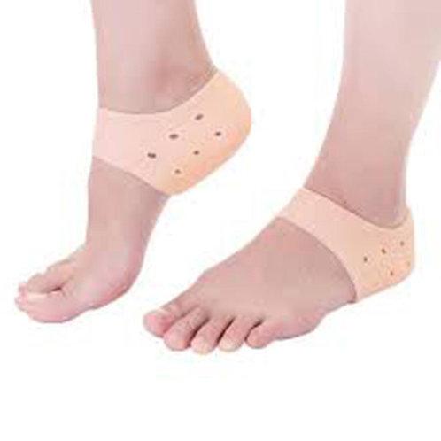 1Pair Foot Heel Protective Cover Heel Crack Socks Skin-Tone Support Massaging In