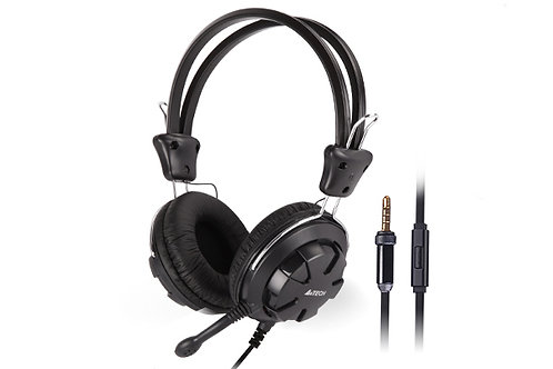 A4TECH HEADPHONES WITH SINGLE PIN MIC COMFORTFIT STEREO HEADSET (HS-28I)