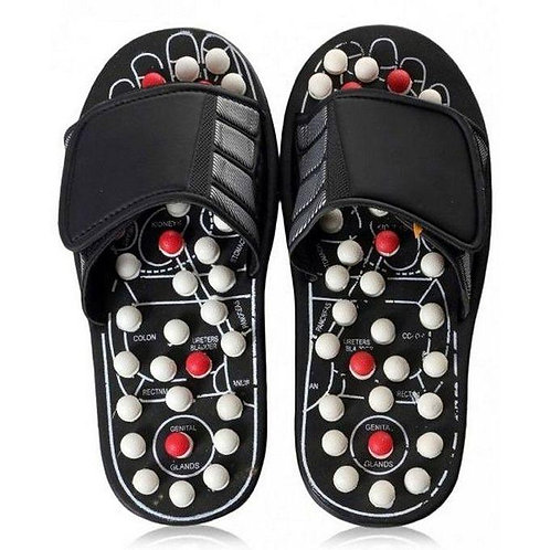 Foot Massaging Slippers - Black