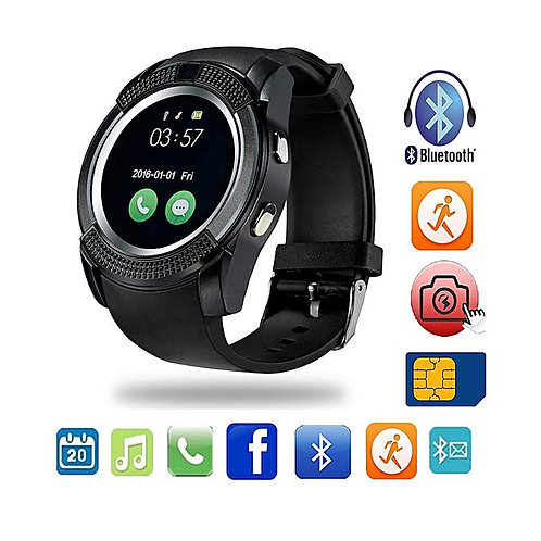 V8 Bluetooth Smart Watch With Camera Bluetooth Wrist Watch