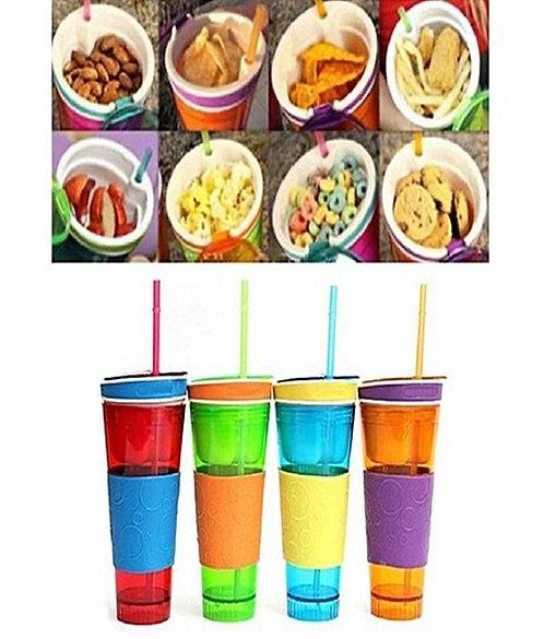 Snackeez Snack & Drink Cup, Multicolor Faisal Electronics