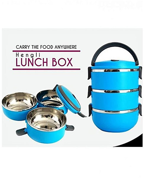 3 Layers Lunch Box – Blue