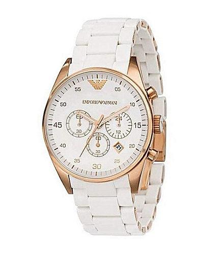 Armani white RD Metal Strap Watch