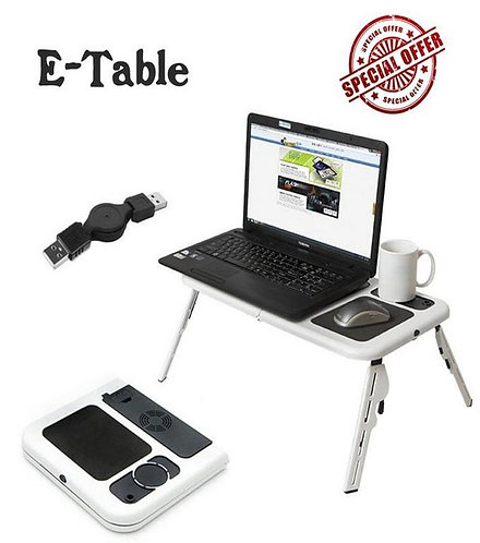 Portable Laptop E-Table - Silver