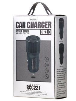 Remax RCC-221 Retour 2.4a + QC3.0 Car Charger [2 USB]