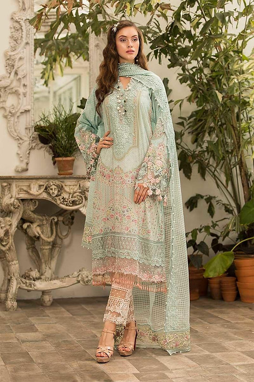 Unstitched Fabrics/Lawn D-604
