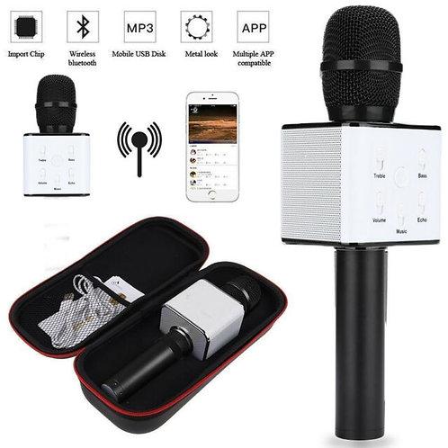 Wireless Bluetooth Microphone Karaoke Mic With Speaker - Black