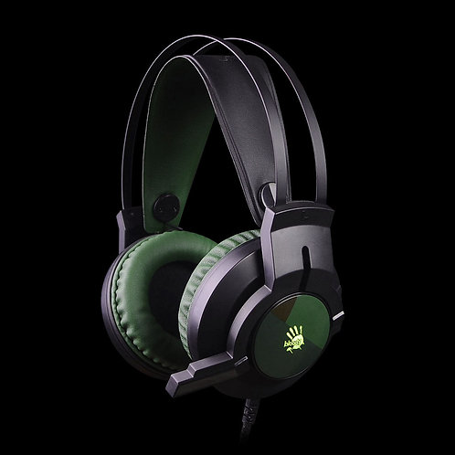 BLOODY USB GAMING HEADPHONES GLARE GAMING HEADSET J437 (ARMY GREEN)