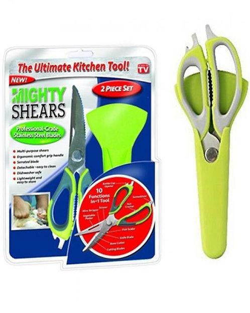 Mighty Shears Kitchen Scissors - Green