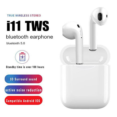 Twin True i11 TWS Wireless Touch Sensor 5.0 Bluetooth Earbuds Airpods With Charg