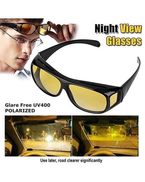 Night & Day Hd Vision Glasses - Black & Yellow