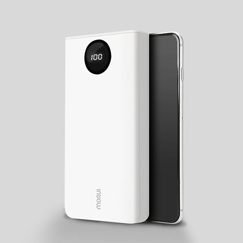 Morui PL20 20000mAH Lithium Polymer Power Bank (White)