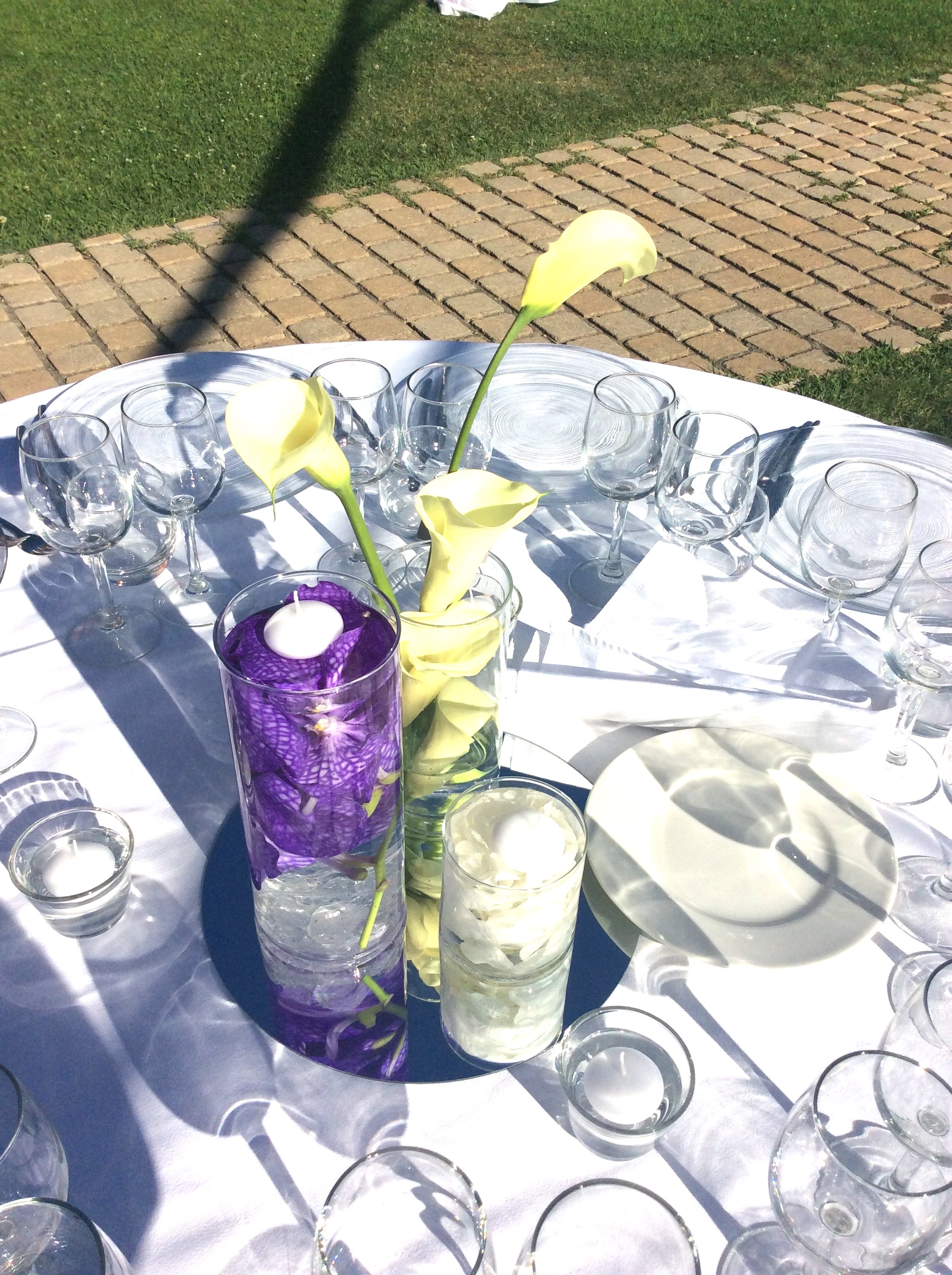 Mariage blanc et violet