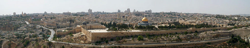 Jerusalem from Mount of Olives panorama,