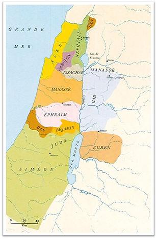Les douze tribus issues des douze fils de Jacob