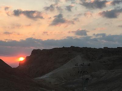 masada coucher soleil