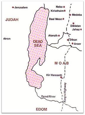 Lieux stèle Mesha