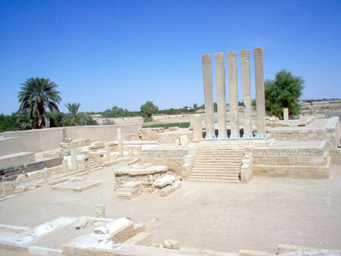 Temple de Bilkis ou Awam, près de Marib