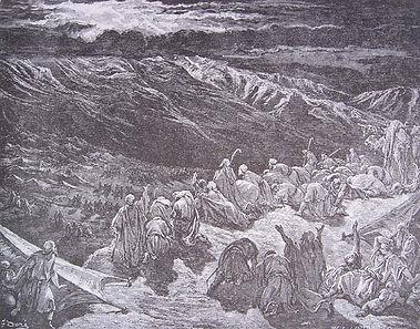 Traversée de la Mer, Gravure, Gustave Doré