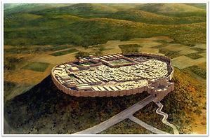 Représentation de la ville de Meggiddo